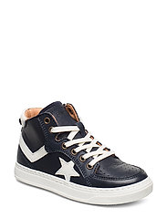 Shoes with laces - NAVY