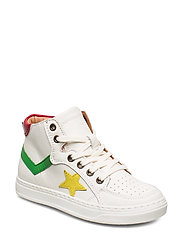 Shoes with laces - WHITE/GREEN