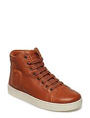 Shoe with laces - COGNAC