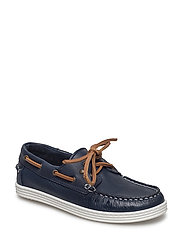 Shoe with laces - BLUE