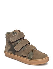 Velcro shoes - GREEN SUEDE