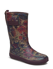 RUBBER BOOT - BORDEAUX-FLOWERS