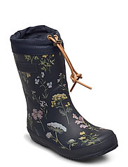 "RUBBER BOOT - ""WINTER THERMO"" - FLOWERS-BLUE"
