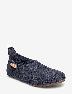 bisgaard basic wool - hjemmesko - 20 blue