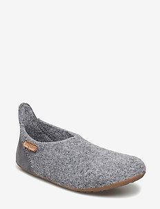 bisgaard basic wool - hausschuhe - 70 grey
