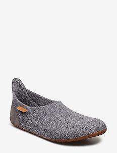 bisgaard basic wool - hjemmesko - grey