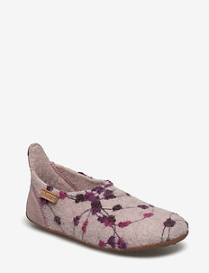 bisgaard basic wool - slippers - rose-flowers