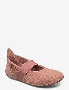 bisgaard ballet wool - ballerinaer og slip-ons - rose