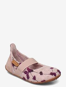 bisgaard ballet wool - ballerinaer og slip-ons - rose-flowers