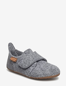 "HOME SHOE - ""WOOL VELCRO"" - hausschuhe - 70 grey"