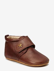 HJEMMESKO - velcro stjerne - tøfler - 60 brown