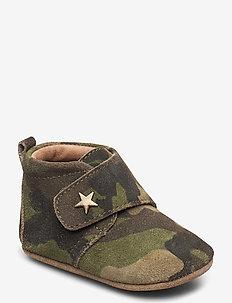 HJEMMESKO - velcro stjerne - lauflernschuhe - army