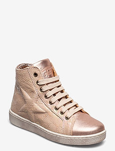 Shoe with laces - sneakers - creme snake