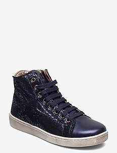 Shoe with laces - NAVY SWIRL