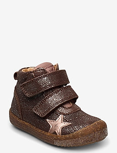 Velcro shoes - boots - brown