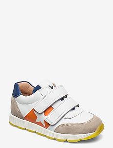 bisgaard liam - lave sneakers - white/orange