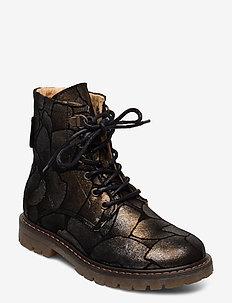 Boot - bottes - black flower