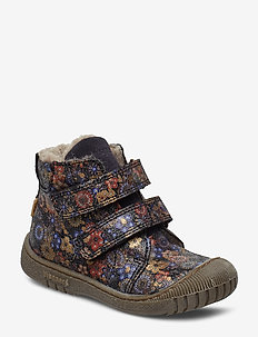 TEX boot - NAVY FLOWERS