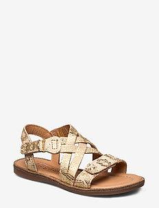 Sandals - sandals - gold snake
