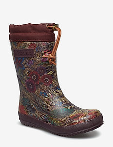 "RUBBER BOOT - ""WINTER THERMO"" - 174 FLOWERS-BORDEAUX"
