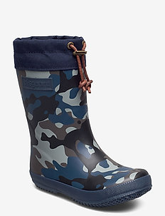"RUBBER BOOT - ""WINTER THERMO"" - kalosze - camouflage-blue"