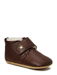 STAR HOMESHOE WITH WOOL - 60 BROWN