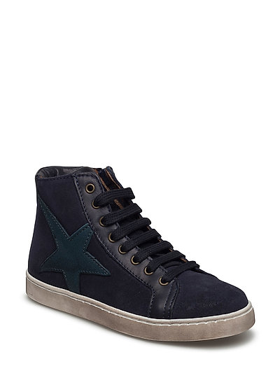 Shoe with lace - BLUE