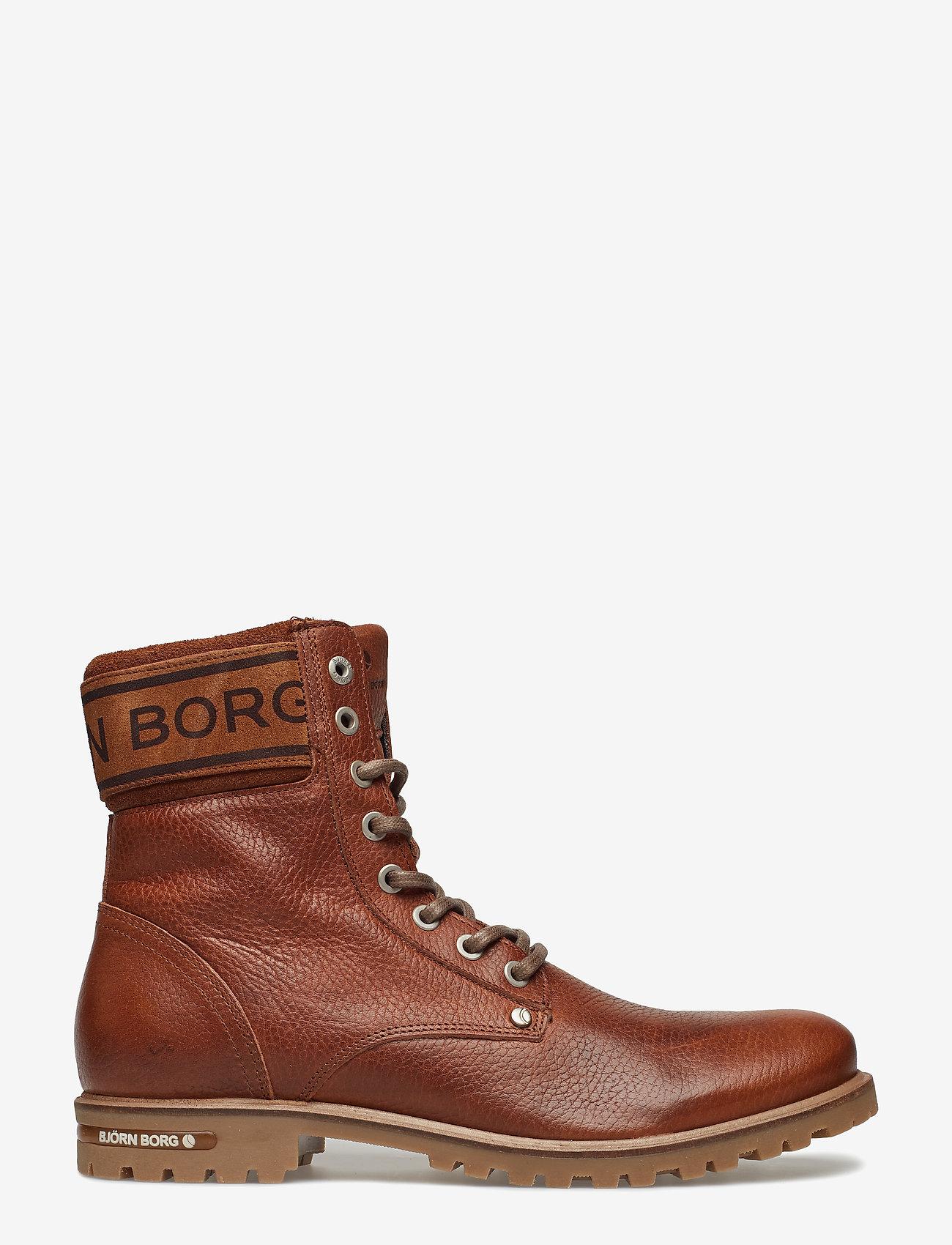 Björn Borg - KEVINA HIGH TMB W - flat ankle boots - tan - 1