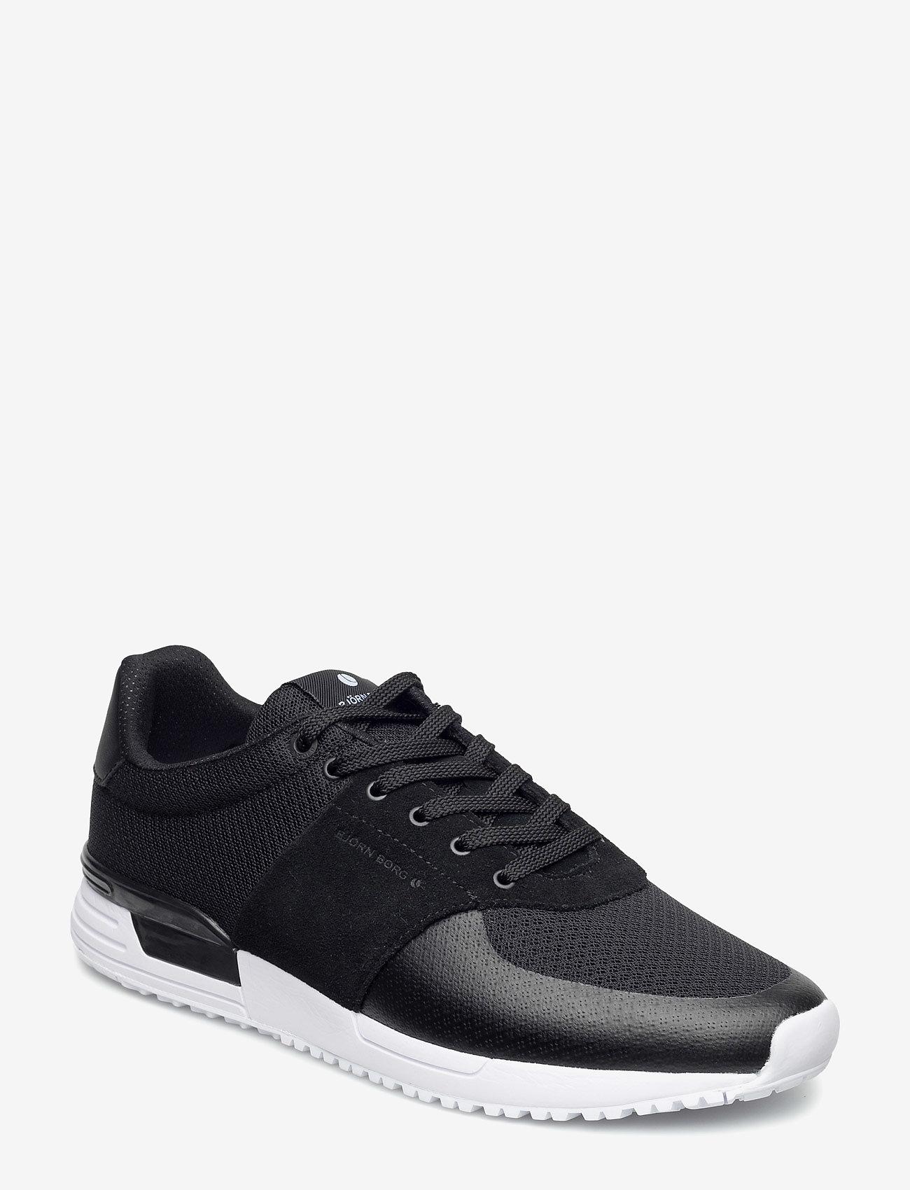Björn Borg - R100 LOW MSH M - laag sneakers - black - 0
