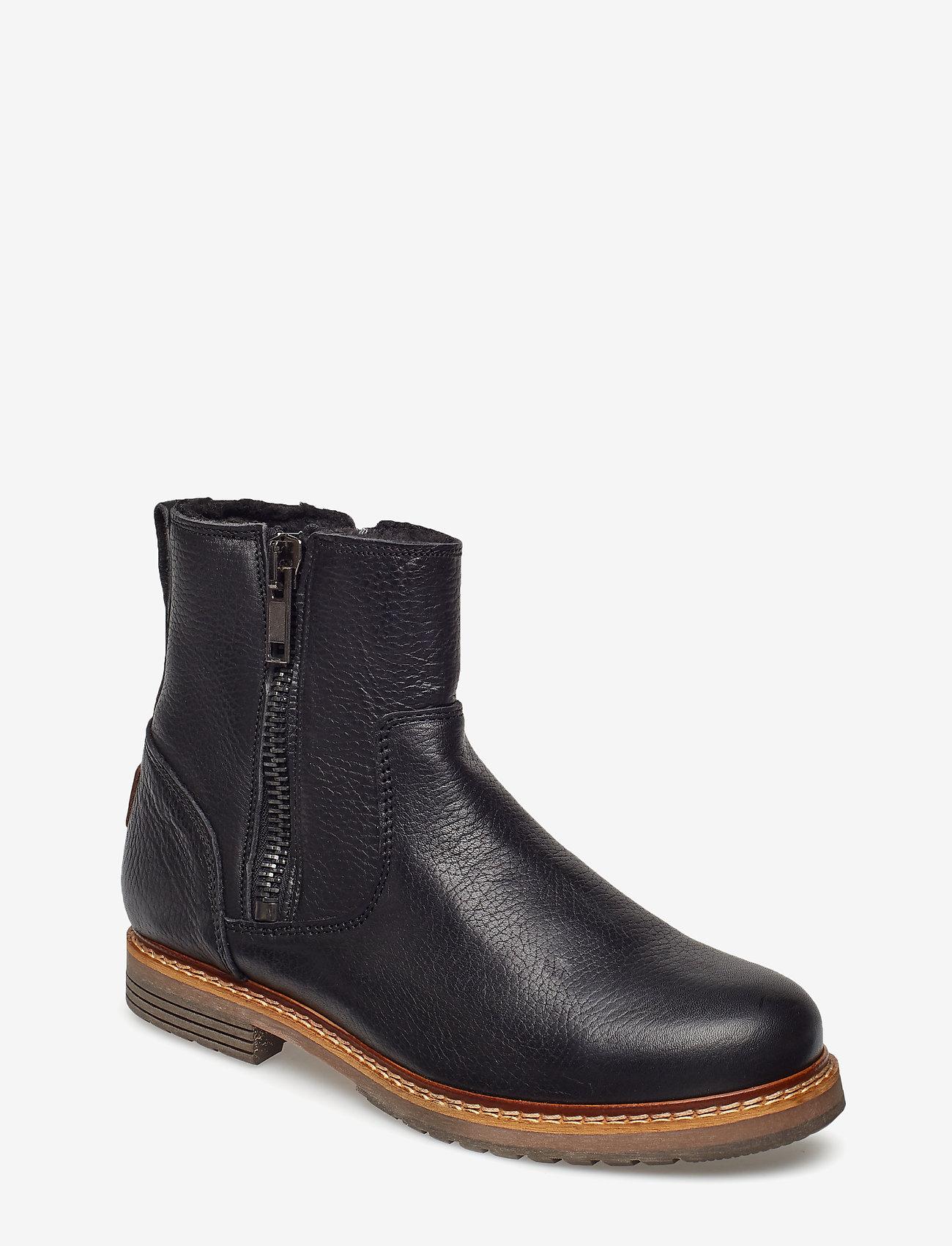 Björn Borg - Joss High Zip W - flat ankle boots - black - 0