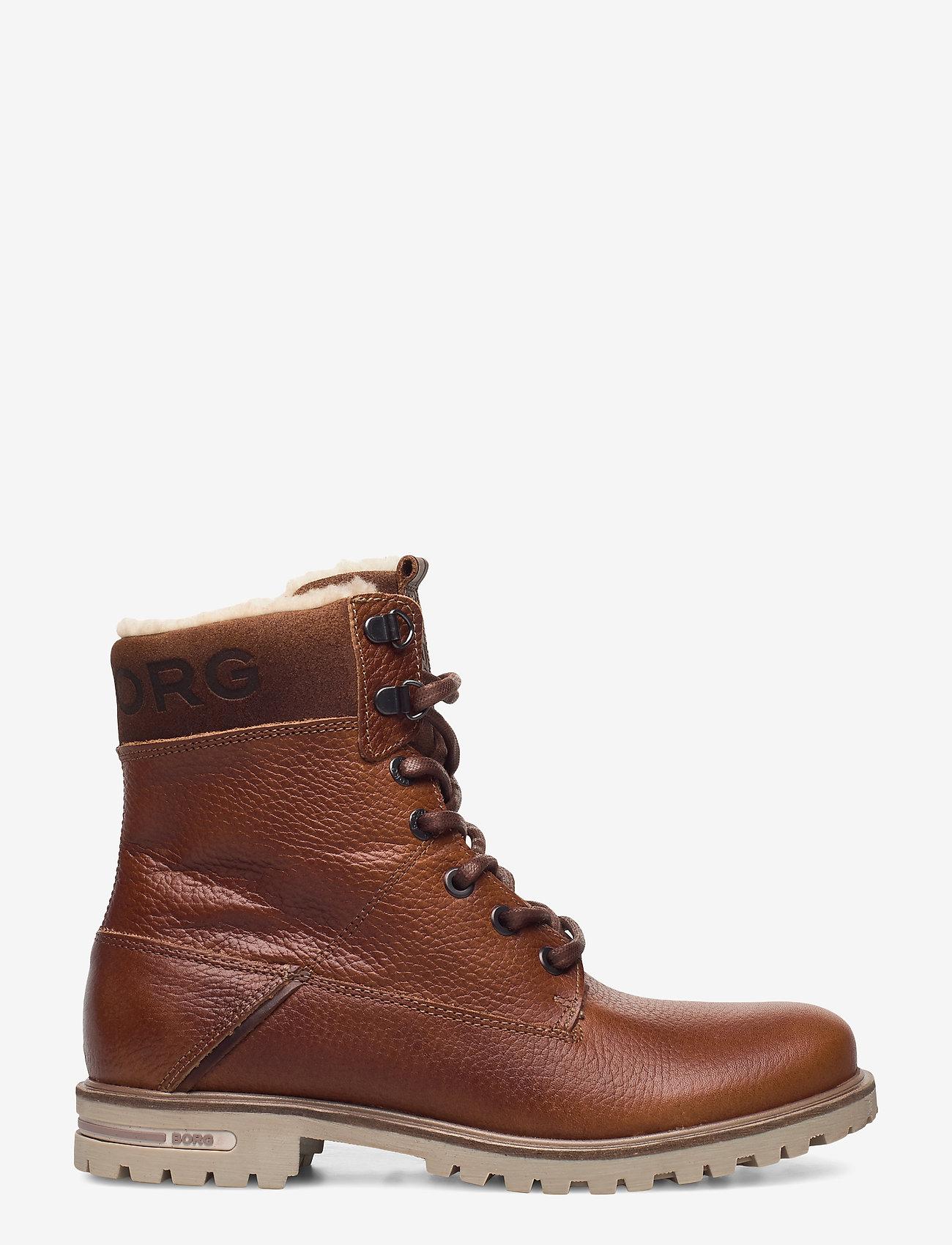 Björn Borg - KENNA HGH TMB W - flat ankle boots - tan - 1