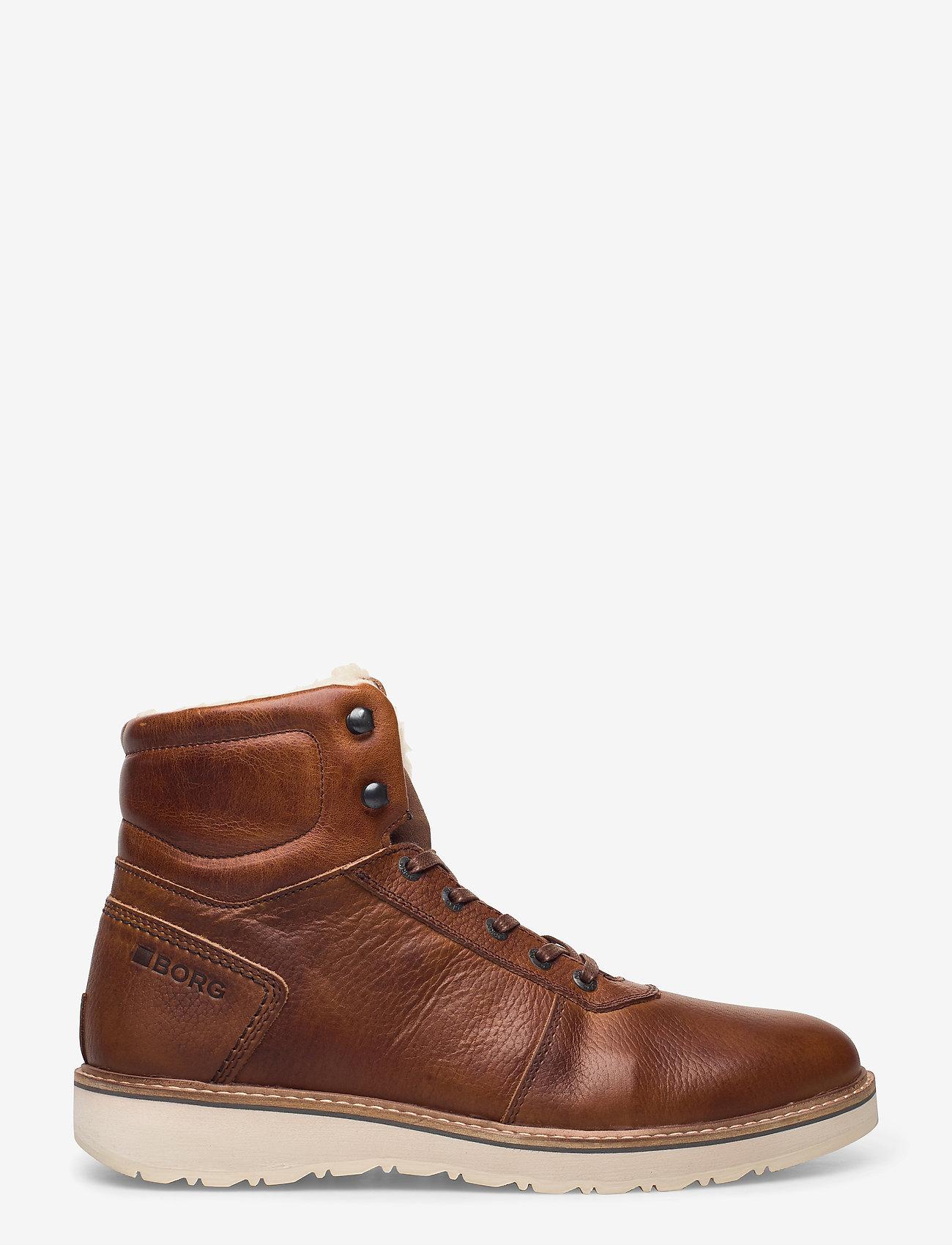 Björn Borg - RUNO HGH FUR M - winter boots - tan - 1