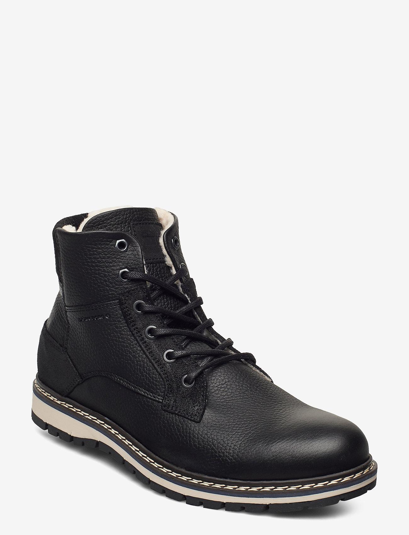 Björn Borg - BOAZ HGH FUR M - winter boots - black - 0