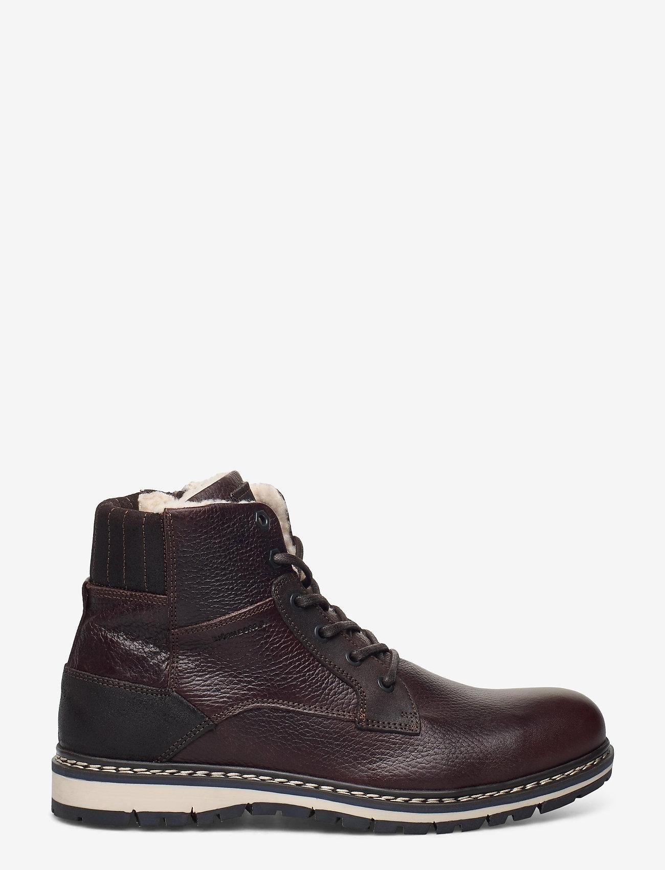 Björn Borg - BOAZ HGH FUR M - winter boots - dark brown - 1