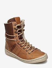 Björn Borg - WENDY HIGH FUR W - flat ankle boots - tan - 0