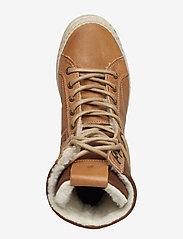 Björn Borg - WENDY HIGH FUR W - flat ankle boots - tan - 3