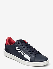 Björn Borg - T330 Low Ctr Prf M - laag sneakers - navy/red - 0