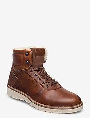 Björn Borg - RUNO HGH FUR M - winter boots - tan - 0