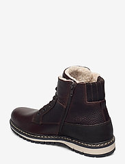 Björn Borg - BOAZ HGH FUR M - vinter boots - dark brown - 2