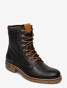 Kevin High M - laced boots - black