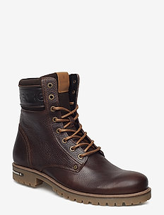 Kevin High M - med snøring - dark brown