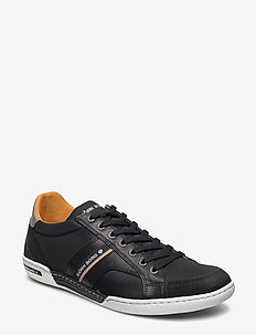 Henry Nnyl - lave sneakers - black/orange