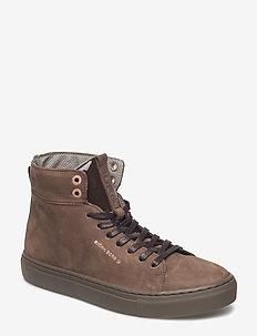 Alley Mid Nub W - sneakersy wysokie - brown