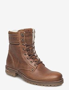 KEVIN 02 HIGH FUR M - winter boots - tan