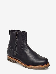 Joss High Zip W - flat ankle boots - black