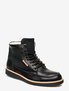 MARVIN Z BO MID FUR M - laced boots - black