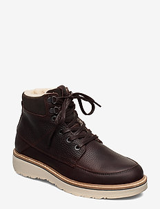 RUGETTA HGH TMB W - flat ankle boots - dark brown
