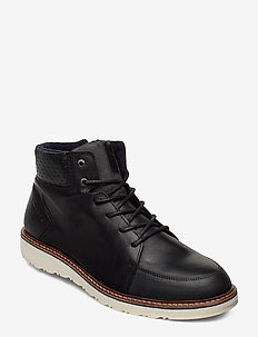 RUMEN MID M - laced boots - black