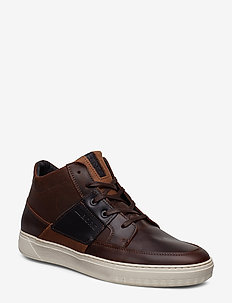COLLIN MID DMT M - korkeavartiset tennarit - dark brown