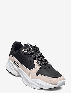 X400 BLK W - low top sneakers - black-lt pink